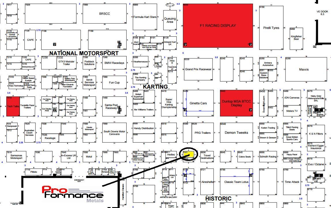 Autosport international show floor map