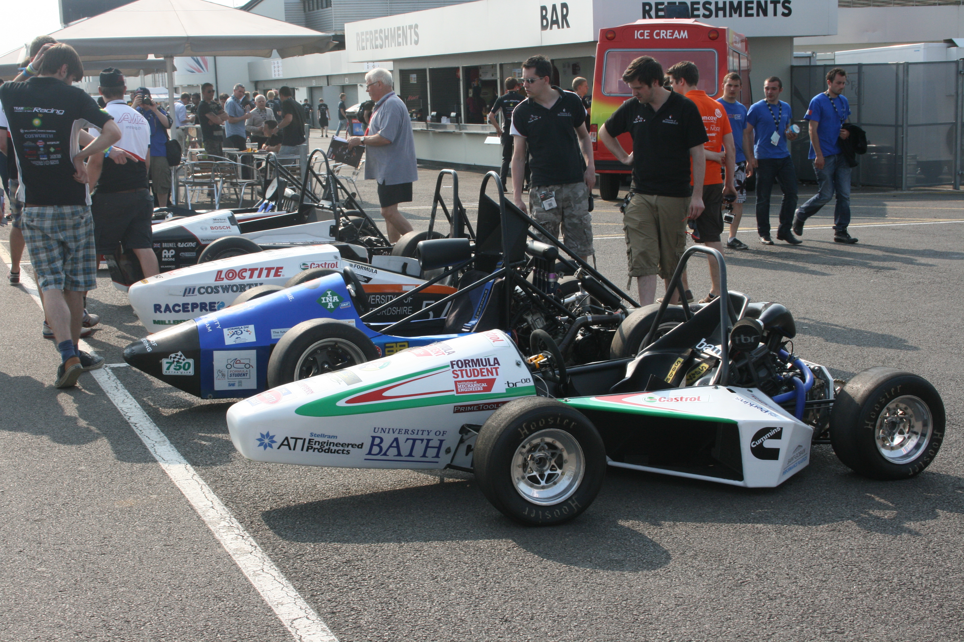 teams at the formula student event